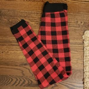 Buffalo Plaid Knit Leggings